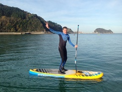 Zarautz paddle board spot in Spain