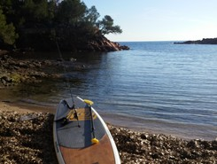 agay paddle board spot in France