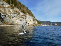 Lac de Joux sitio de stand up paddle / paddle surf en Suiza