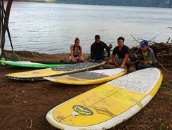 Secret Garden, Living World Experiences, Coatepeque Lake  paddle board spot in El Salvador
