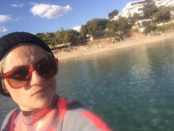 Vouliagmeni paddle board spot in Greece