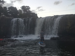 Haruru Falls paddle board spot in New Zealand