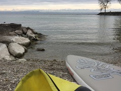Auvernier Beach sitio de stand up paddle / paddle surf en Suiza