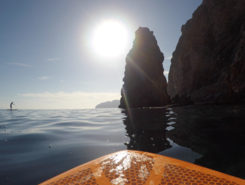 El Portús paddle board spot in Spain