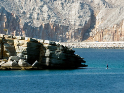 Rocky Point spot de stand up paddle en Oman