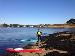 Port blanc - conleau  sitio de stand up paddle / paddle surf en Francia