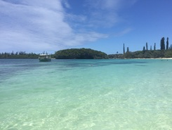 Île des pins paddle board spot in New Caledonia