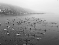 lac d'annecy sitio de stand up paddle / paddle surf en Francia