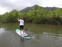 Fa'aroa bBay paddle board spot in French Polynesia