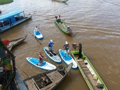 Battambang to Siem Reap paddle board spot in Cambodia