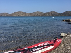 Ελουντα spot de stand up paddle en Grèce