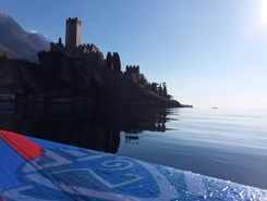 malcesine paddle board spot in Italy