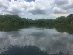 Puerto Azul paddle board spot in Ecuador