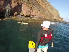 Las Gaviotas paddle board spot in Spain