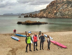 Cala Cortina spot de stand up paddle en Espagne