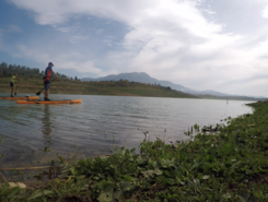 Embalse de la Viñuela spot de stand up paddle en Espagne