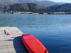GREECE :  KEFALONIA ISLAND :  ARGOSTOLI paddle board spot in Greece