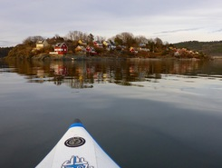 Ormsund paddle board spot in Norway