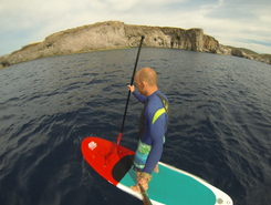 Sant Antioco paddle board spot in Italy