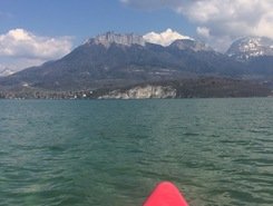 talloires paddle board spot in France