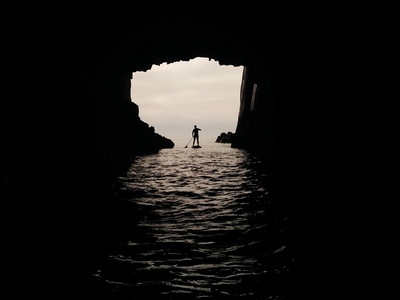 caves in old head of kinsale paddle board spot in Ireland
