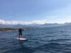 Calvi paddle board spot in France