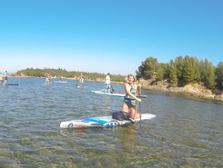 hyeres paddle board spot in France