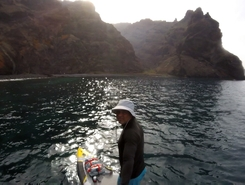 Los Gigantes paddle board spot in Spain