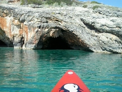 GREECE :  ZAKYNTHOS  ISLAND :  AGIOS NIKOLAOS paddle board spot in Greece