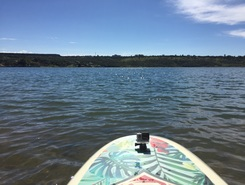 Secret spot paddle board spot in Brazil