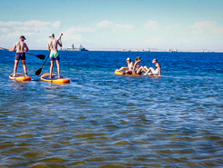 Pelican point sitio de stand up paddle / paddle surf en Namibia
