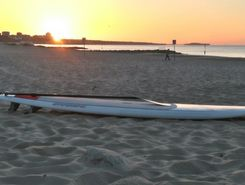 branksome to durley chine paddle board spot in United Kingdom