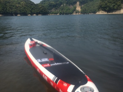 松原ダム paddle board spot in Japan