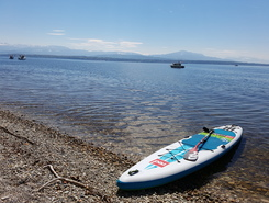 plage de la dullive paddle board spot in Switzerland