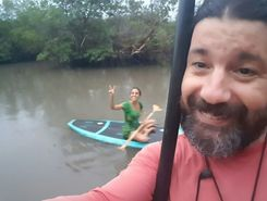 areia branca paddle board spot in Brazil