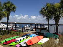 Destin harbor sitio de stand up paddle / paddle surf en Estados Unidos
