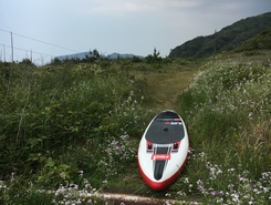 大口 sitio de stand up paddle / paddle surf en Japón