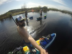 Пра paddle board spot in Russia