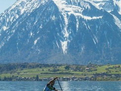 Thunersee paddle board spot in Switzerland