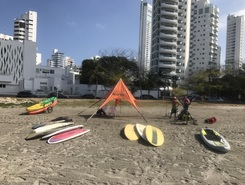 Karib paddle board spot in Colombia