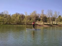 Quail Lake paddle board spot in United States