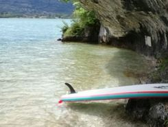 Port talloire paddle board spot in France