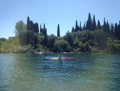Garda paddle board spot in Italy
