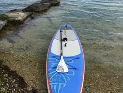 Auvernier Beach paddle board spot in Switzerland