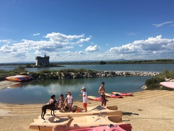 Les Canaux paddle board spot in France