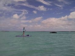 Chalk Sound National Park paddle board spot in Turks & Caicos Islands