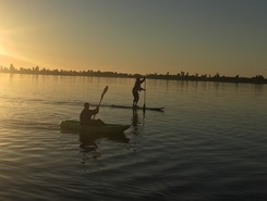 Lagoon paddle board spot in Namibia