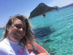 Capo Figari paddle board spot in Italy