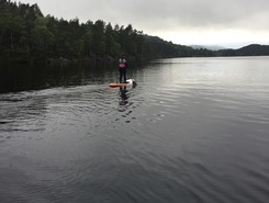 Storavatnet paddle board spot in Norway