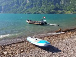 Camping Murg sitio de stand up paddle / paddle surf en Suiza